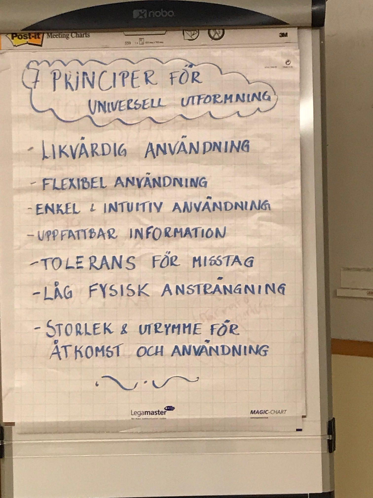 Sju principer för Universell utformning