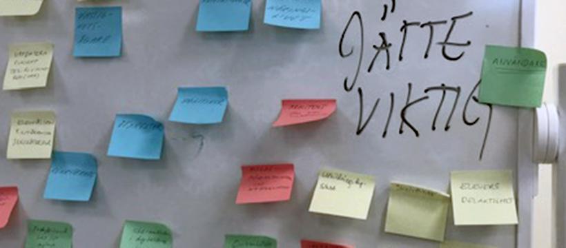 Deltagarna placerade ut vilka intressenter som är viktigast att nå fram till.