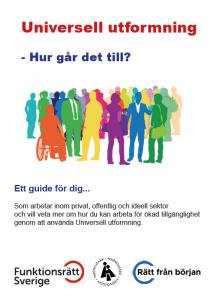 Bild på förstasida av guide om universell utformning