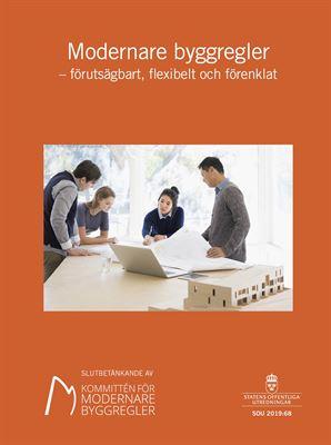 Framsida till slutbetänkandet om modernare byggregler