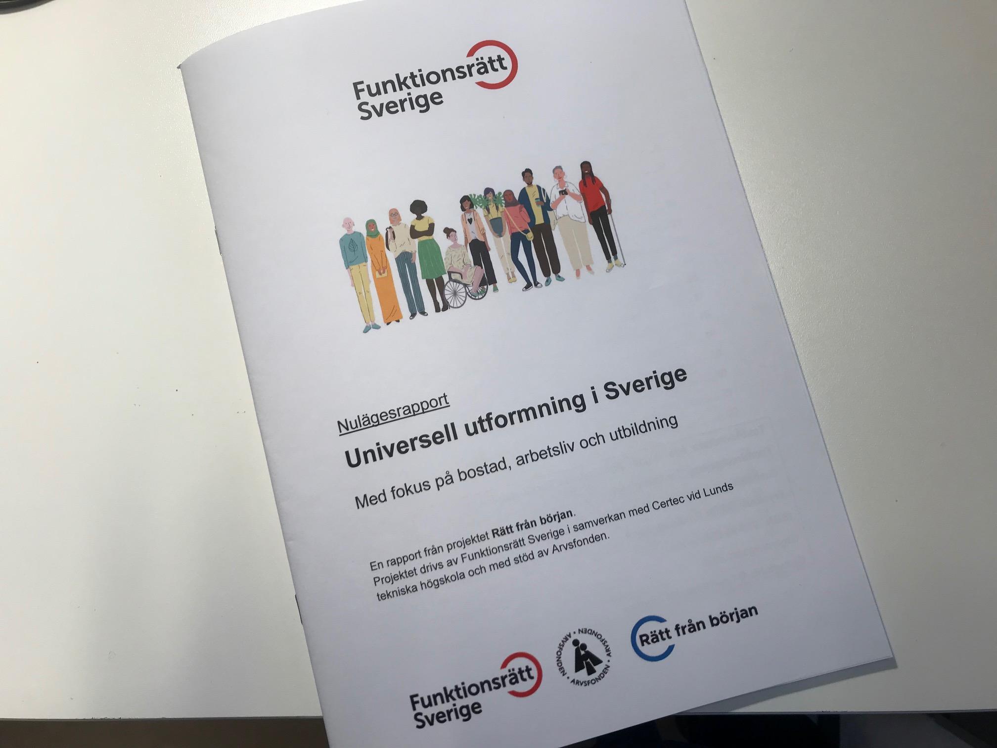 Nulägesrapport: Utmaningar och möjligheter för universell utformning i Sverige